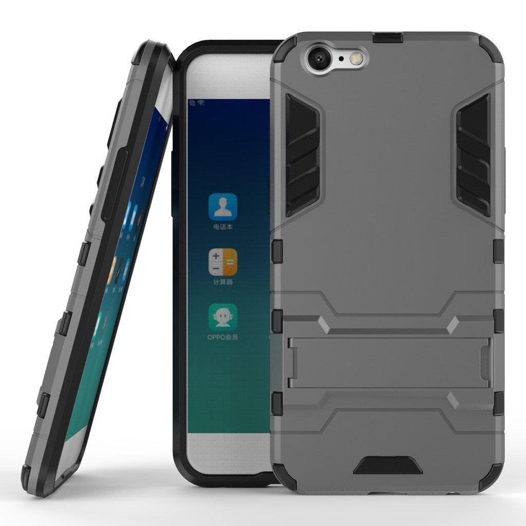 OPPO A39 Armor Case DWaybox 2 in 1 Hybrid Heavy Duty Hard Back Cover Case with