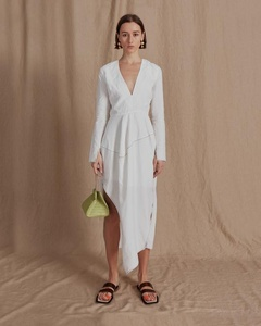 Carlyn Dress Linen Off-White