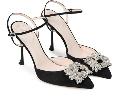 Bouquet Strass slingback pumps