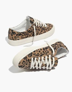 Top Sneakers in Leopard Print Recycled Canvas