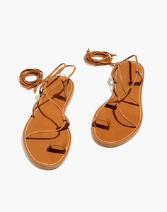 The Boardwalk Lace-Up Toe-Hold Sandal