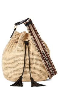 Mini Raffia Crossbody Bag